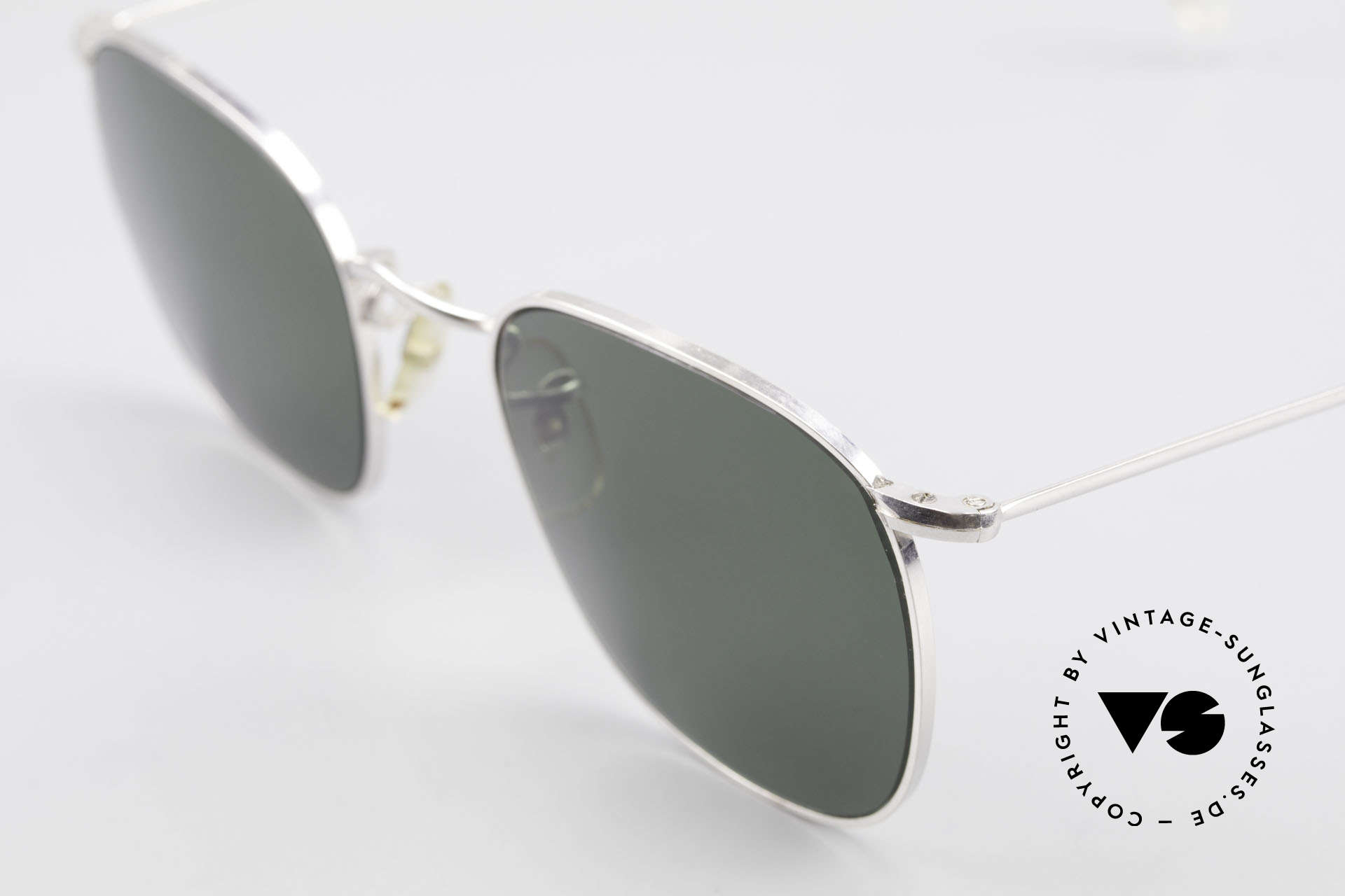 Algha Quadra 50/22 Old Gold Filled Sunglasses, gold-filled frame 20/1000 (20g gold / 1000g metal), Made for Men