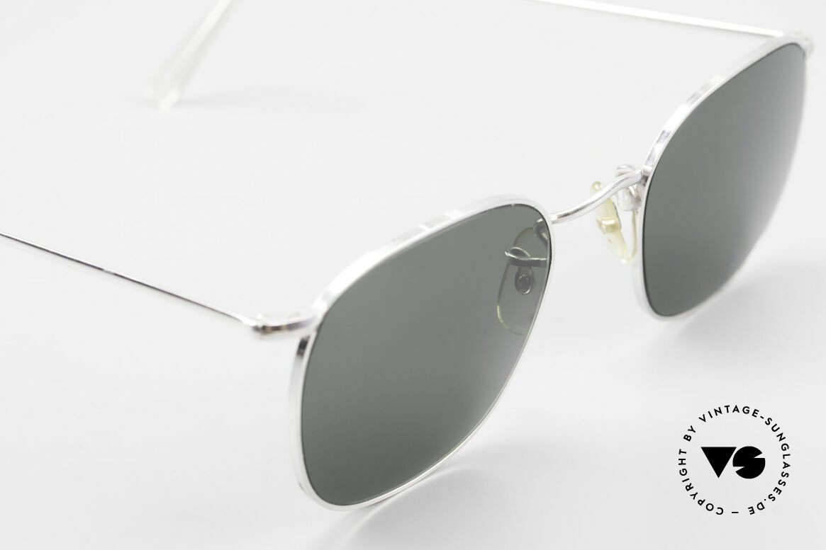 Algha Quadra 50/22 Old Gold Filled Sunglasses, new old stock; unworn rarity; medium size 50-22, Made for Men