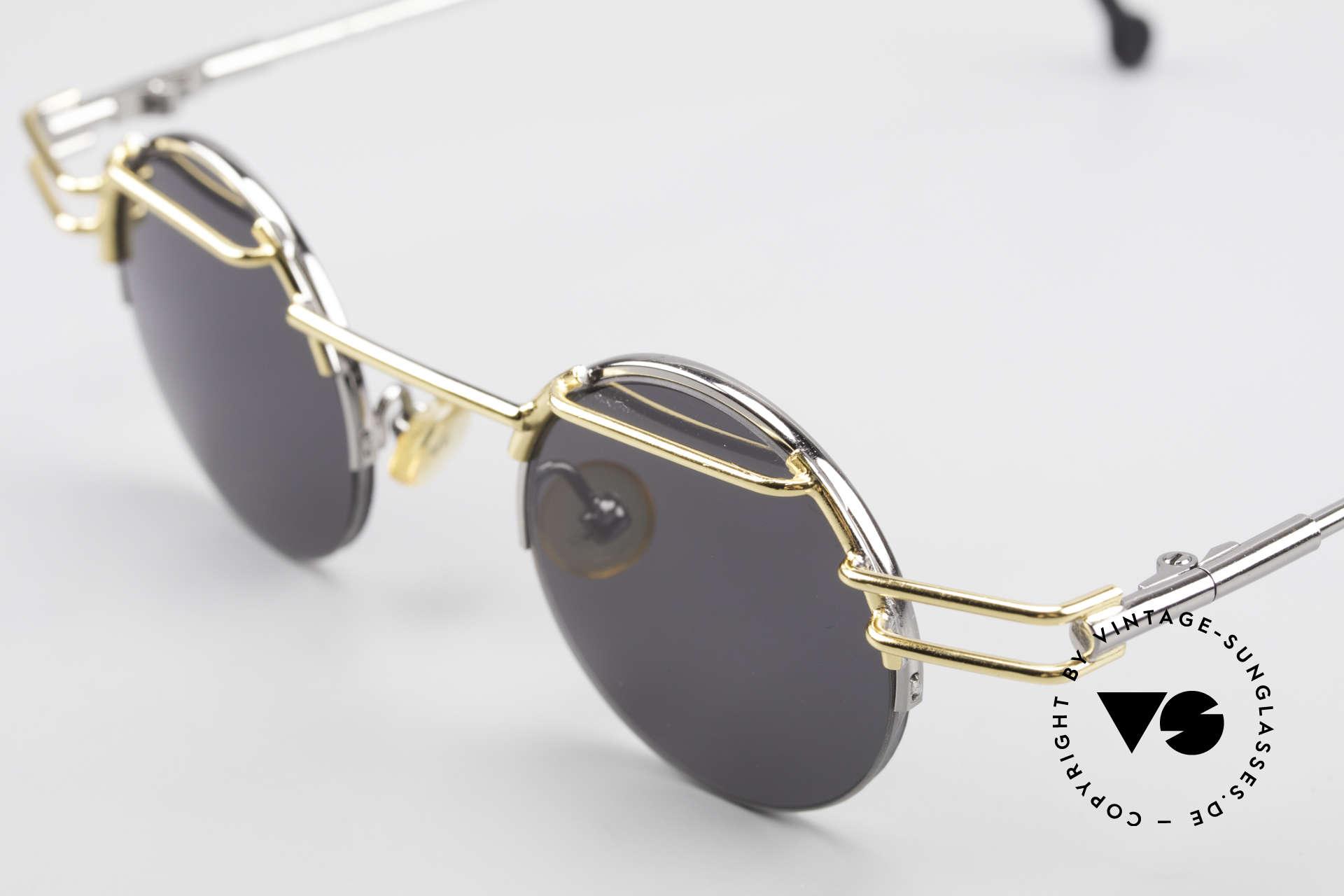 IMAGO Luna 90s Designer Sunglasses Round, unworn single item from the late '90 (true vintage rarity), Made for Men and Women