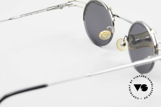 IMAGO Luna 90s Designer Sunglasses Round, sun lenses (100% UV) can be replaced with prescriptions, Made for Men and Women