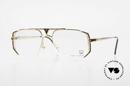 MCM München 5 Titanium Glasses Gold Plated Details