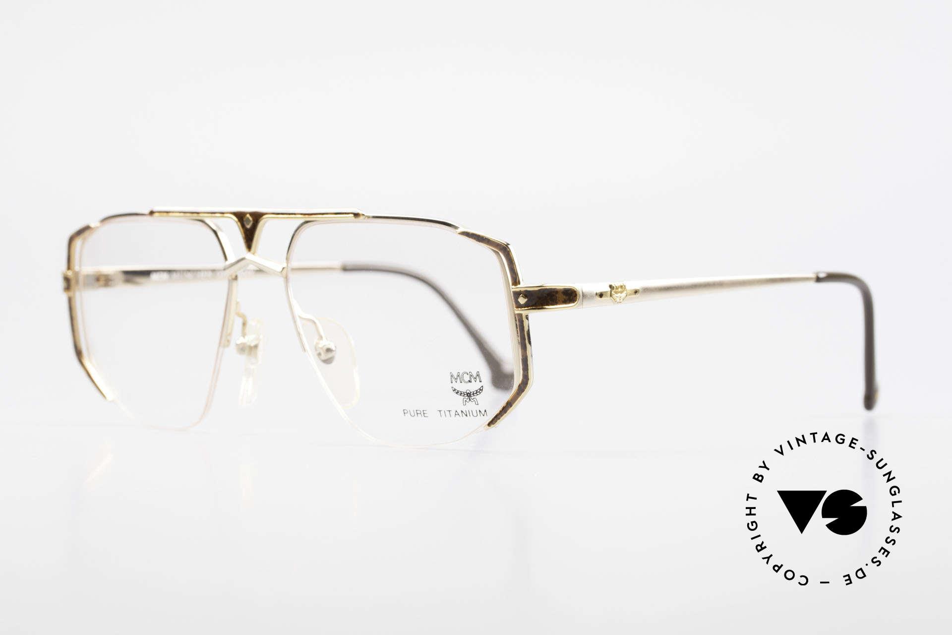 MCM München 5 Titanium Glasses Gold Plated, luxury eyeglasses by Michael Cromer (MC), Munich (M), Made for Men