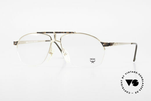 MCM München 10 Gold Plated Frame Root Wood Details