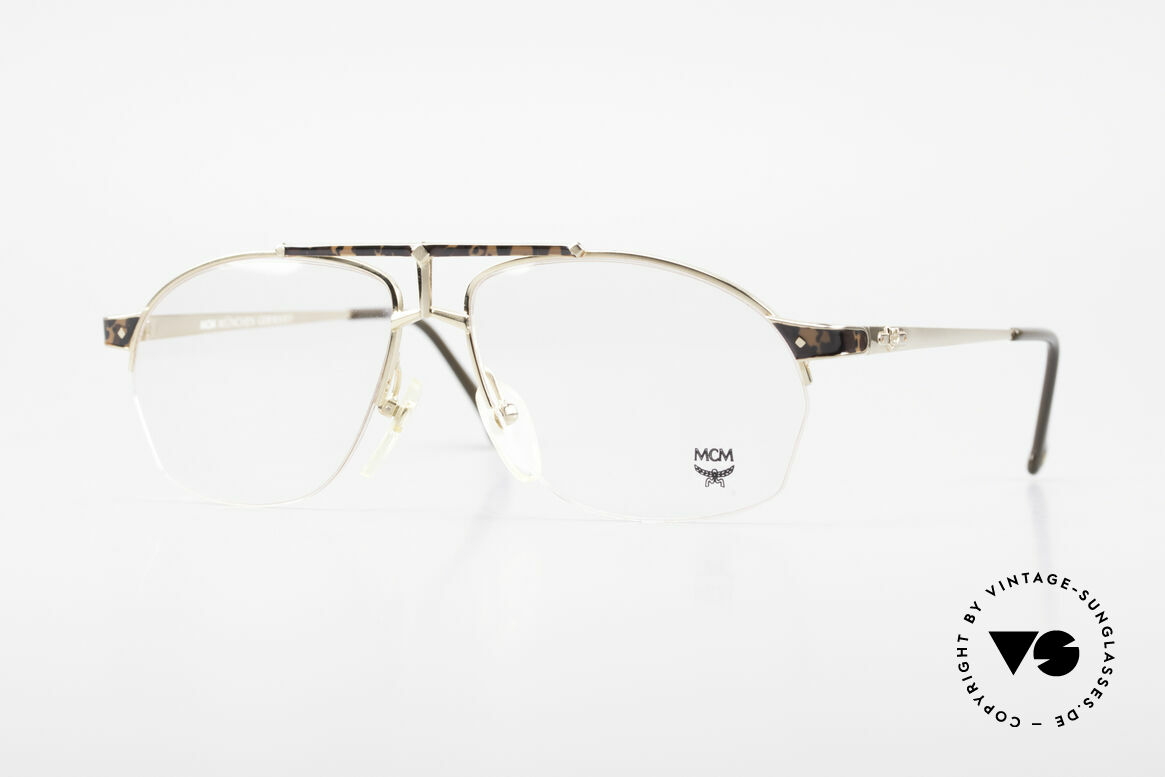 MCM München 10 Gold Plated Frame Root Wood, old designer eyeglasses by MCM from the early 1990's, Made for Men