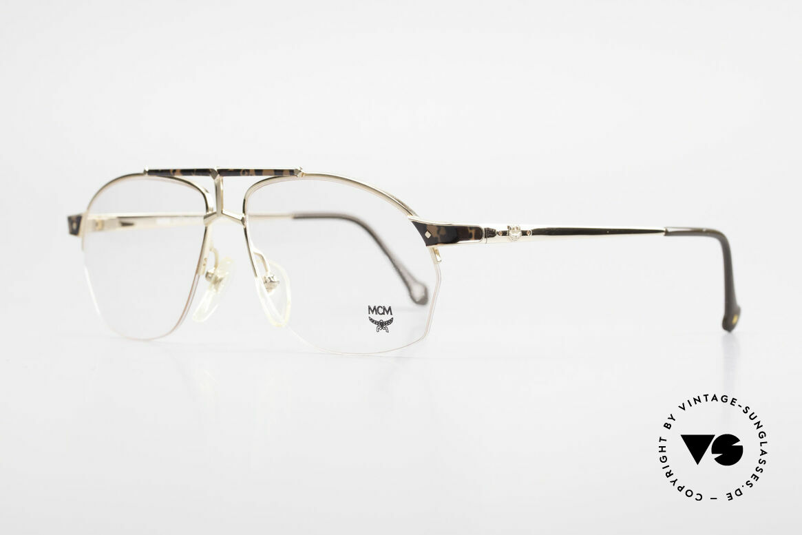 MCM München 10 Gold Plated Frame Root Wood, luxury eyeglasses by Michael Cromer (MC), Munich (M), Made for Men