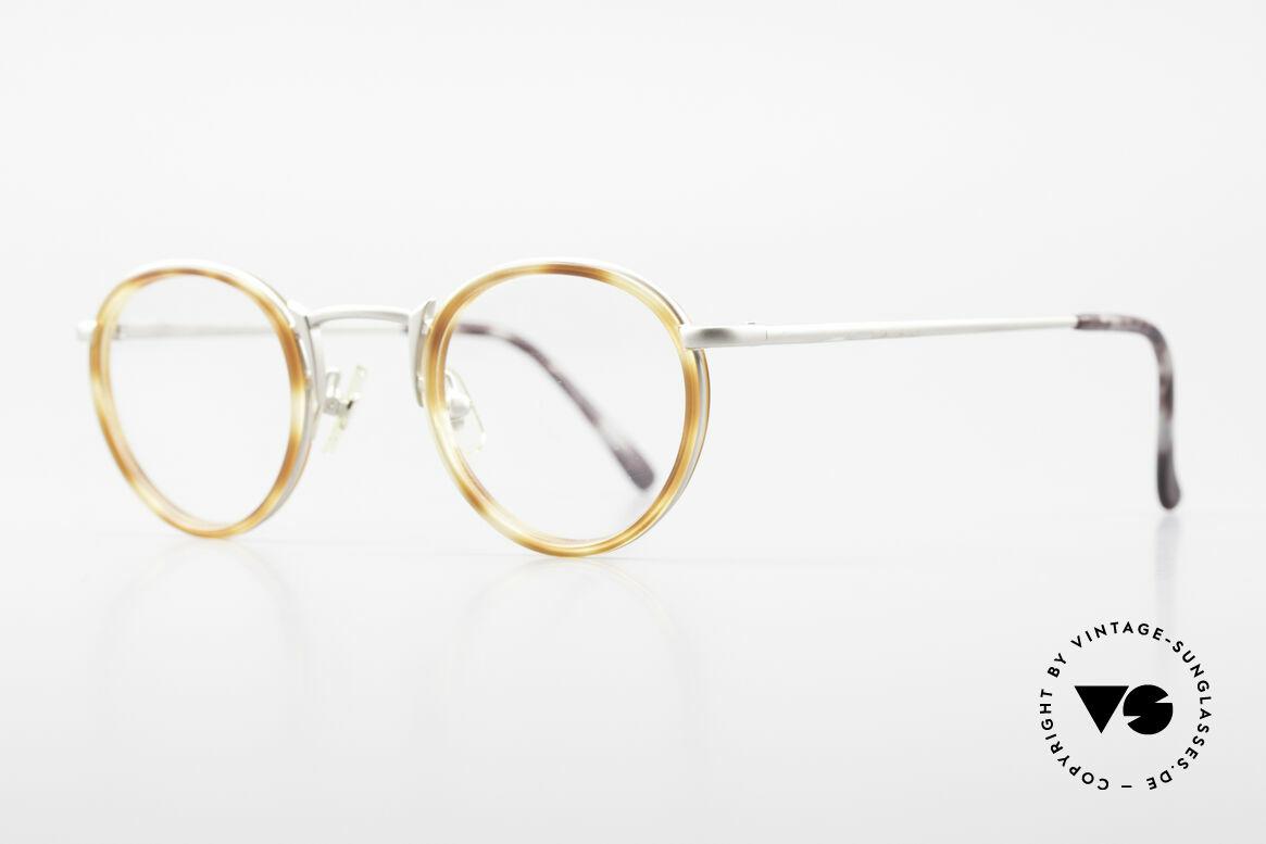 Freudenhaus Bido Round 90's Designer Frame, great combination of materials (plastic & titanium), Made for Men and Women