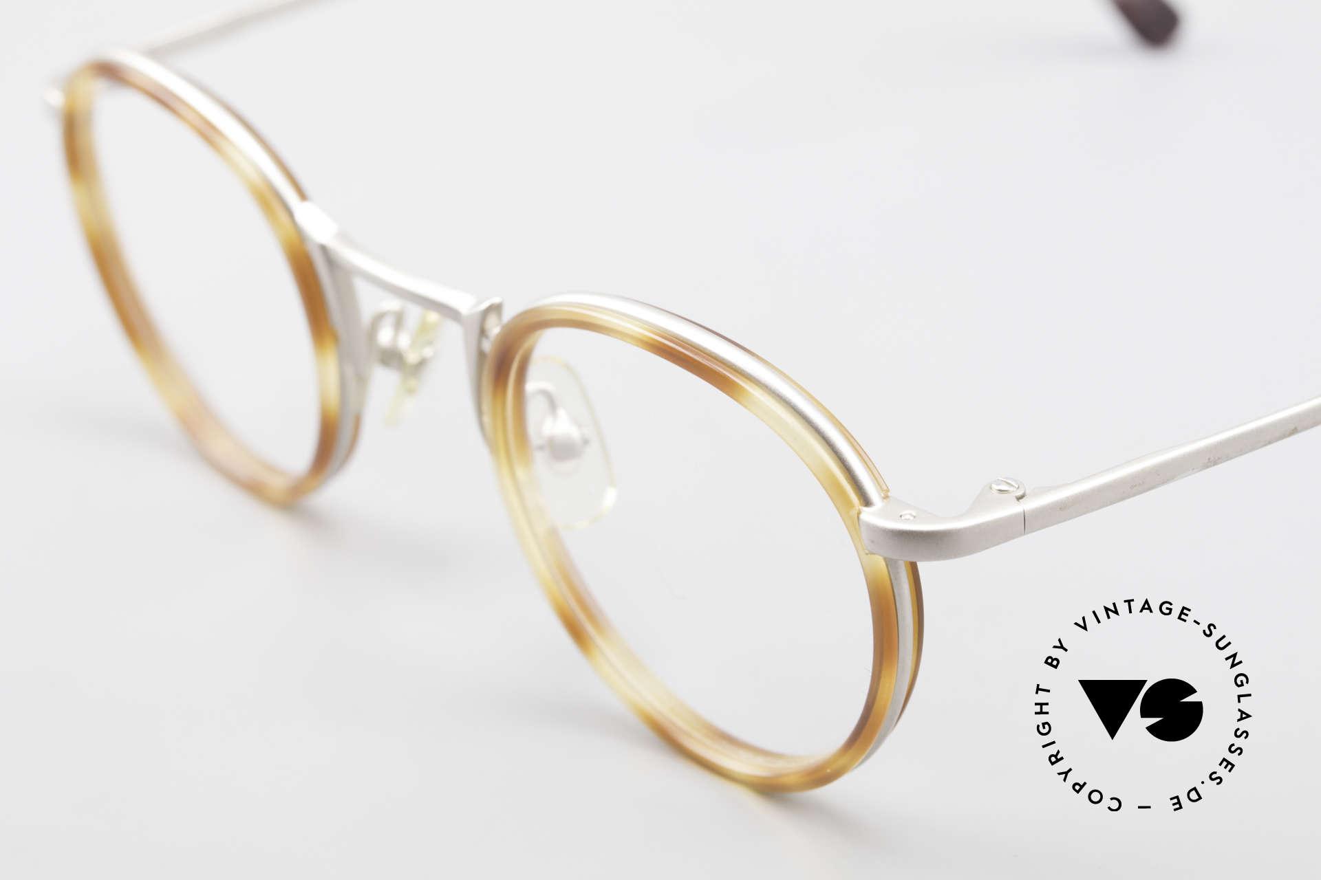 Freudenhaus Bido Round 90's Designer Frame, timeless & sophisticated frame design; SMALL size, Made for Men and Women