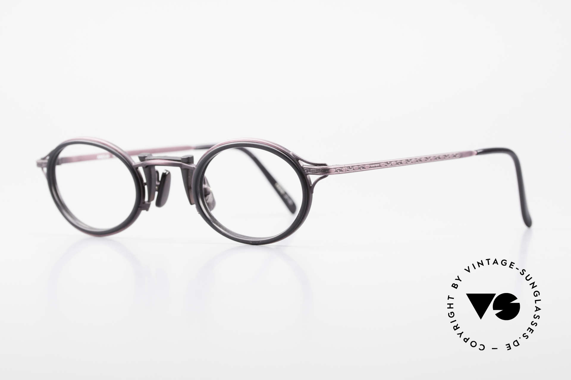 Freudenhaus Andua Oval 90's Designer Frame, great combination of materials (plastic & titanium), Made for Women