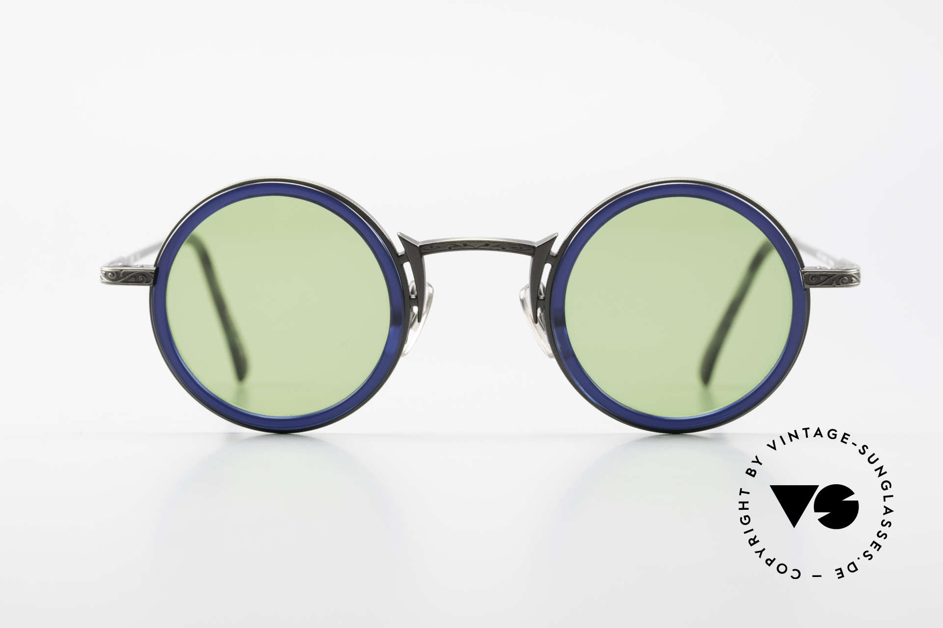 "Freudenhaus Domo Round Designer Sunglasses, 'Freudenhaus' means ""cathouse / house of pleasure"", Made for Men"