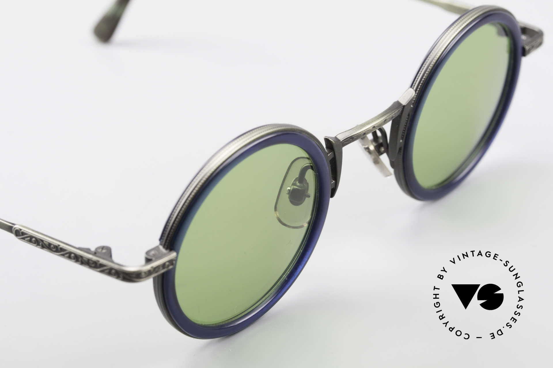Freudenhaus Domo Round Designer Sunglasses, unworn (like all our rare vintage designer sunglasses), Made for Men