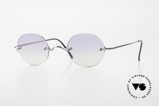 Freudenhaus Flemming Round Rimless Sunglasses Details