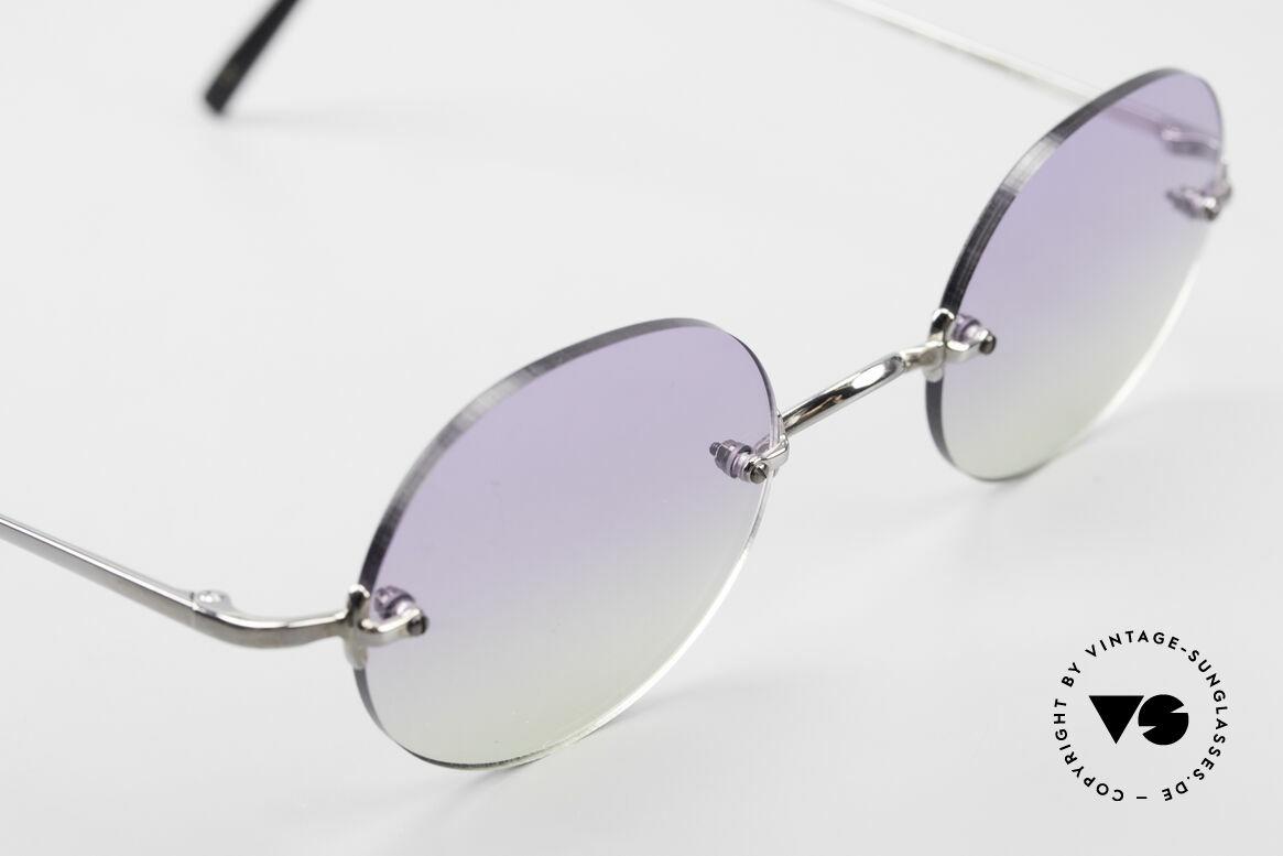 Freudenhaus Flemming Round Rimless Sunglasses, unworn (like all our rare vintage designer sunglasses), Made for Men and Women