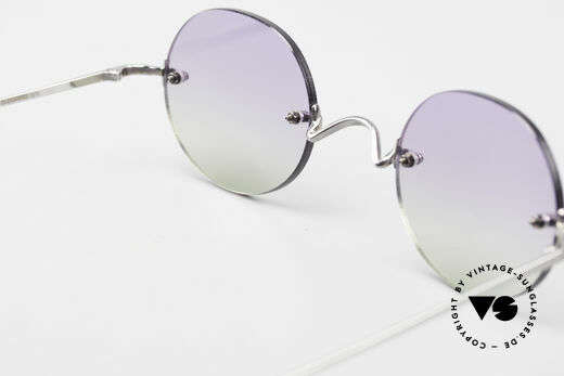Freudenhaus Flemming Round Rimless Sunglasses, NO RETRO fashion, but an old Original from the 90's, Made for Men and Women