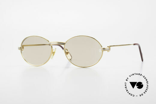 Cartier Saint Honore Small Oval Luxury Sunglasses Details