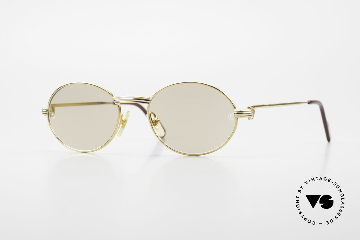 Cartier Saint Honore Small Oval Luxury Sunglasses