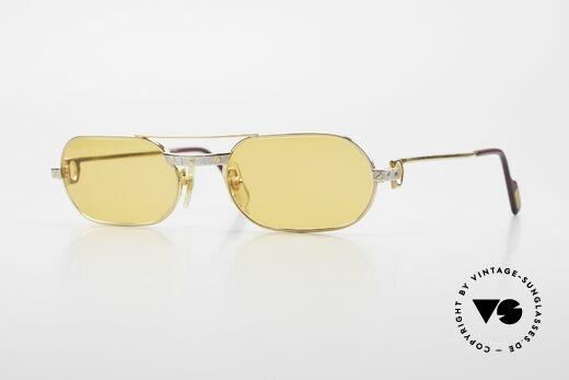 Cartier MUST Santos - S Elton John Sunglasses 1980s Details
