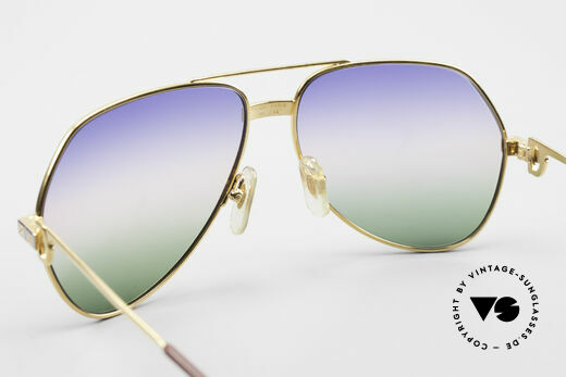 Cartier Vendome Santos - M Rare Luxury Aviator Shades, from sky-blue to the red of sunrise colors to grass-green, Made for Men and Women