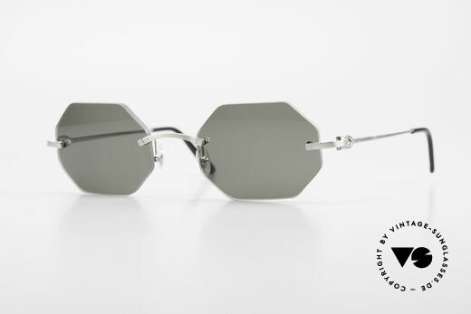 Cartier C-Decor Octag Octagonal Luxury Sunglasses Details