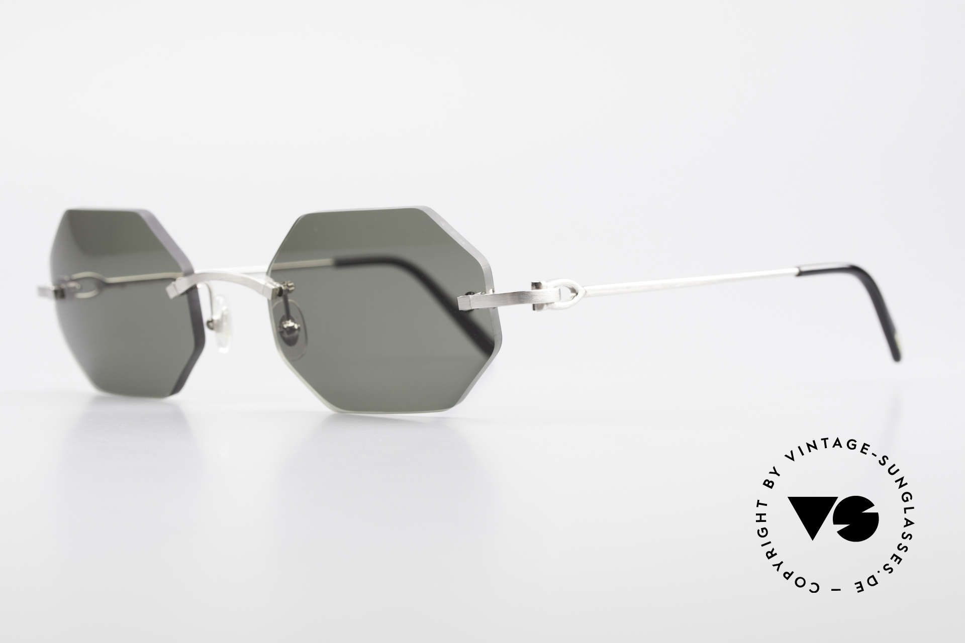 Cartier C-Decor Octag Octagonal Luxury Sunglasses, model of the C-Decor series with new OCTAG lenses, Made for Men