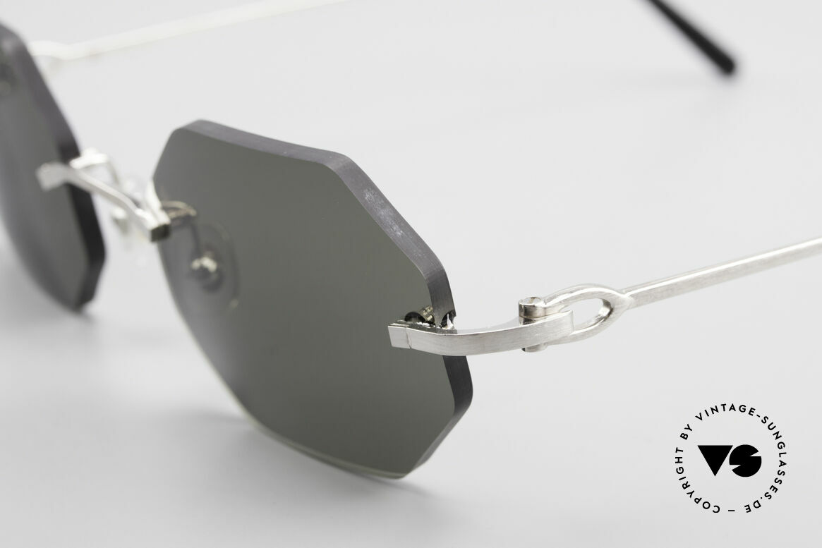 Cartier C-Decor Octag Octagonal Luxury Sunglasses, 2.hand model in a mint condition + Cartier hard case, Made for Men