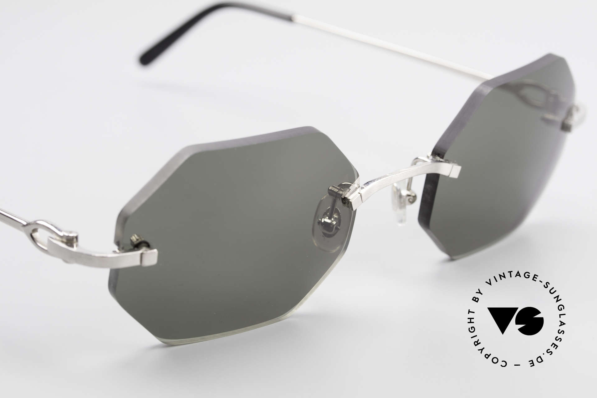 Cartier C-Decor Octag Octagonal Luxury Sunglasses, customized by our optician in medium size 50/20, 140, Made for Men