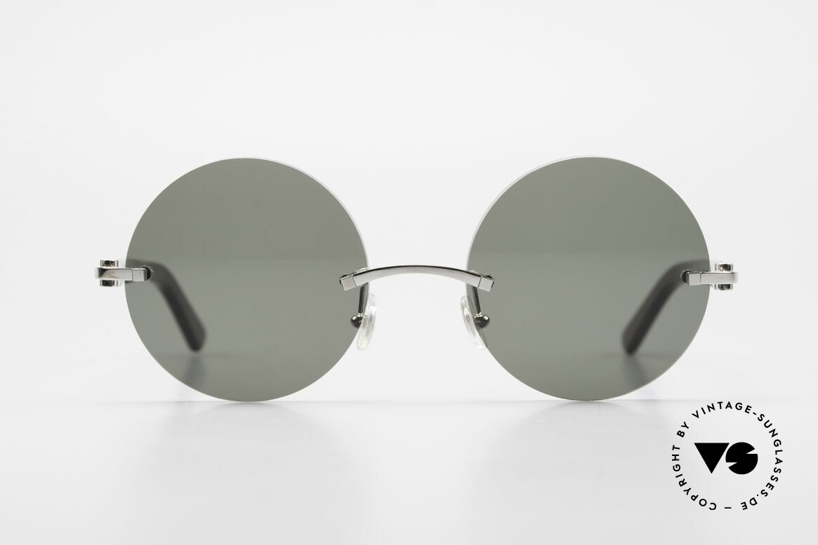 Cartier C-Decor Madison Small Round Luxury Shades, precious round designer shades; metal & composite, Made for Men and Women