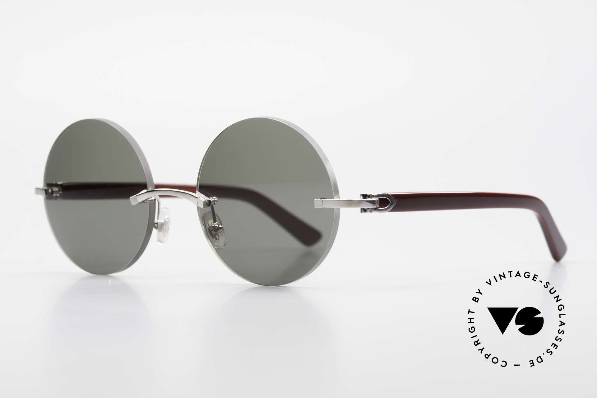 Cartier C-Decor Madison Small Round Luxury Shades, model of the C-Decor Series with new round lenses, Made for Men and Women