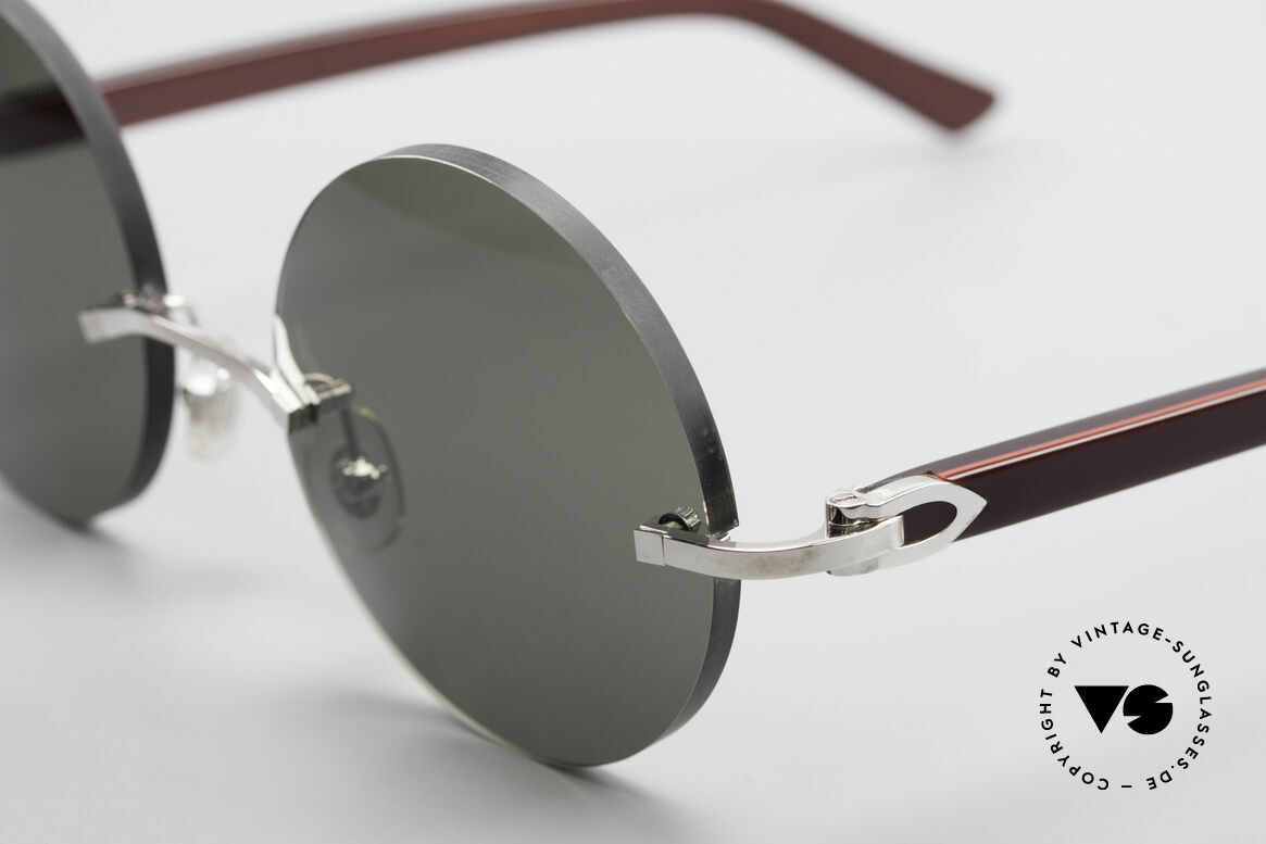 "Cartier C-Decor Madison Small Round Luxury Shades, customized lenses are identical like model ""Madison"", Made for Men and Women"