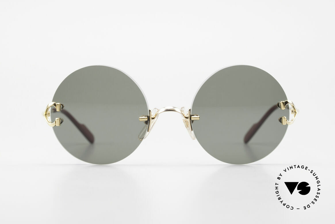 Cartier Madison Limited Special Edition in Large Size, noble rimless CARTIER luxury sunglasses from 1997, Made for Men