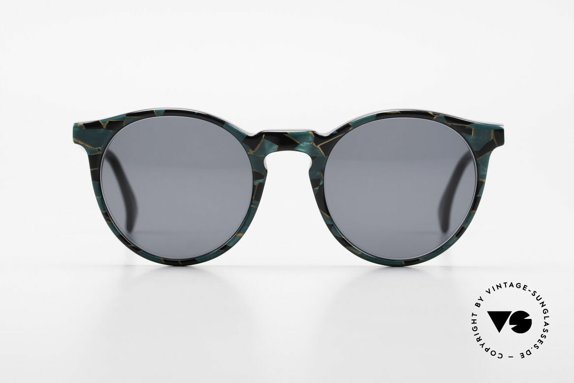 Alain Mikli 034 / 885 Panto Designer Sunglasses, classic 'panto'-design with an interesting pattern, Made for Men and Women