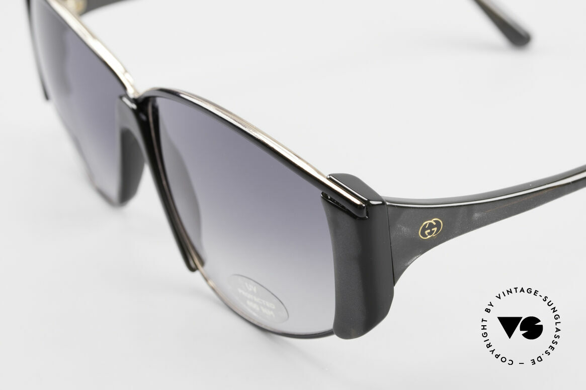 Gucci 2308 80's Ladies Designer Shades XL, dark luscious gray color with spotted nacre effect, Made for Women