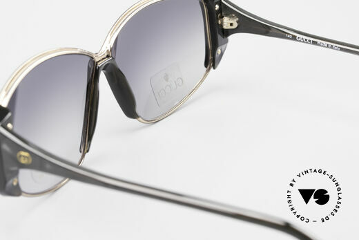 Gucci 2308 80's Ladies Designer Shades XL, NO retro sunglasses, but 100% vintage 80's original, Made for Women