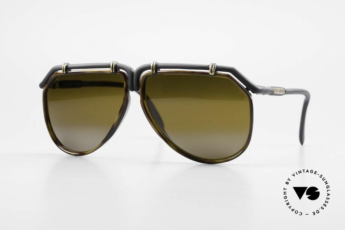 Ted Lapidus 1623 70's Men's Sunglasses Aviator, old pair of 1970's vintage sunglasses by Ted Lapidus, Made for Men