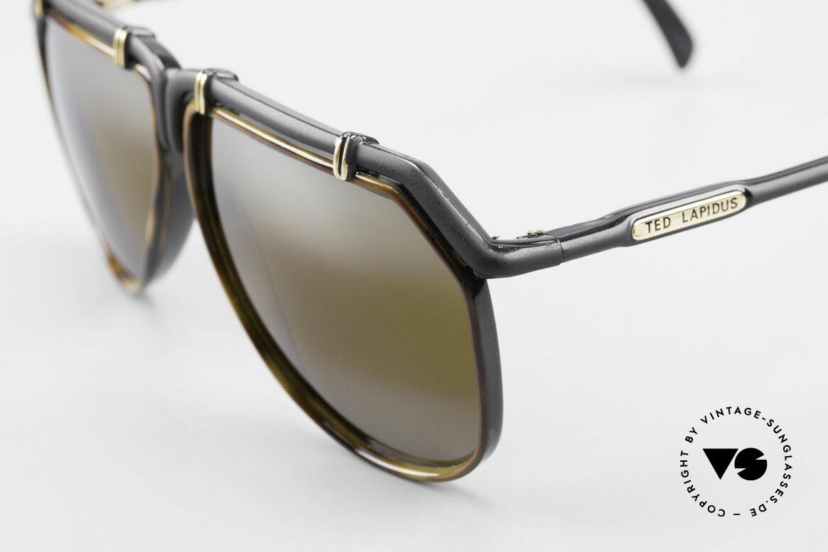 Ted Lapidus 1623 70's Men's Sunglasses Aviator, double gradient gold-mirrored sun lenses (100% UV), Made for Men