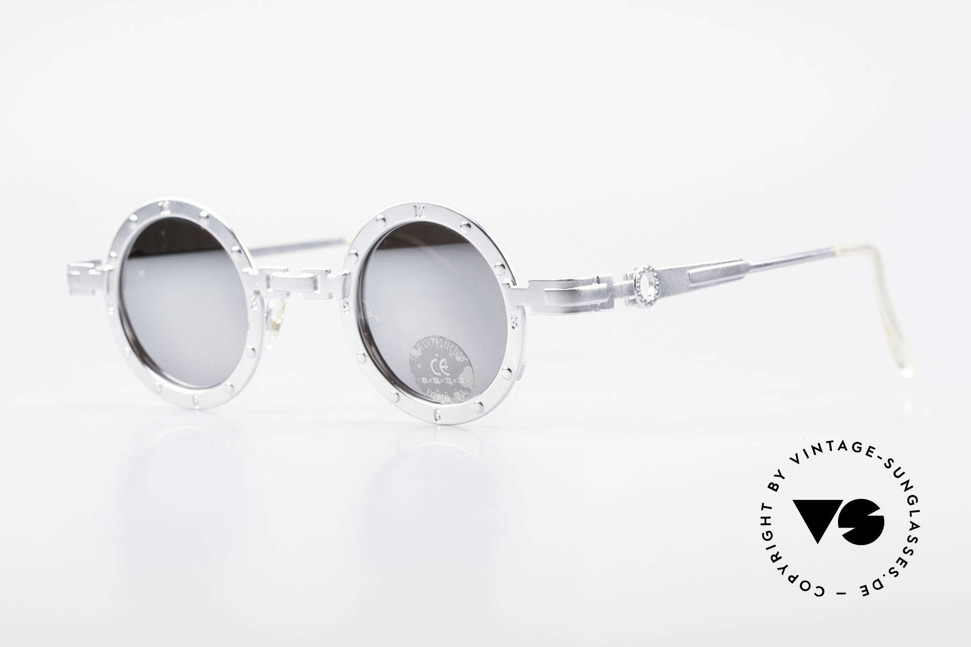 "Koure Icon 2266 Mirrored Steampunk Shades, many very interesting  ""retro-futuristic"" frame elements, Made for Men and Women"