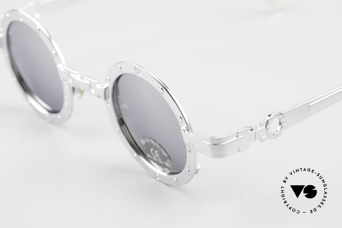 Koure Icon 2266 Mirrored Steampunk Shades, top craftsmanship of all components; mirrored sun lenses, Made for Men and Women