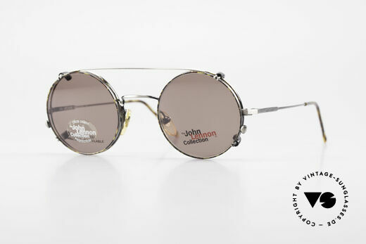 John Lennon - You Are Here Round Glasses With Clip On Details
