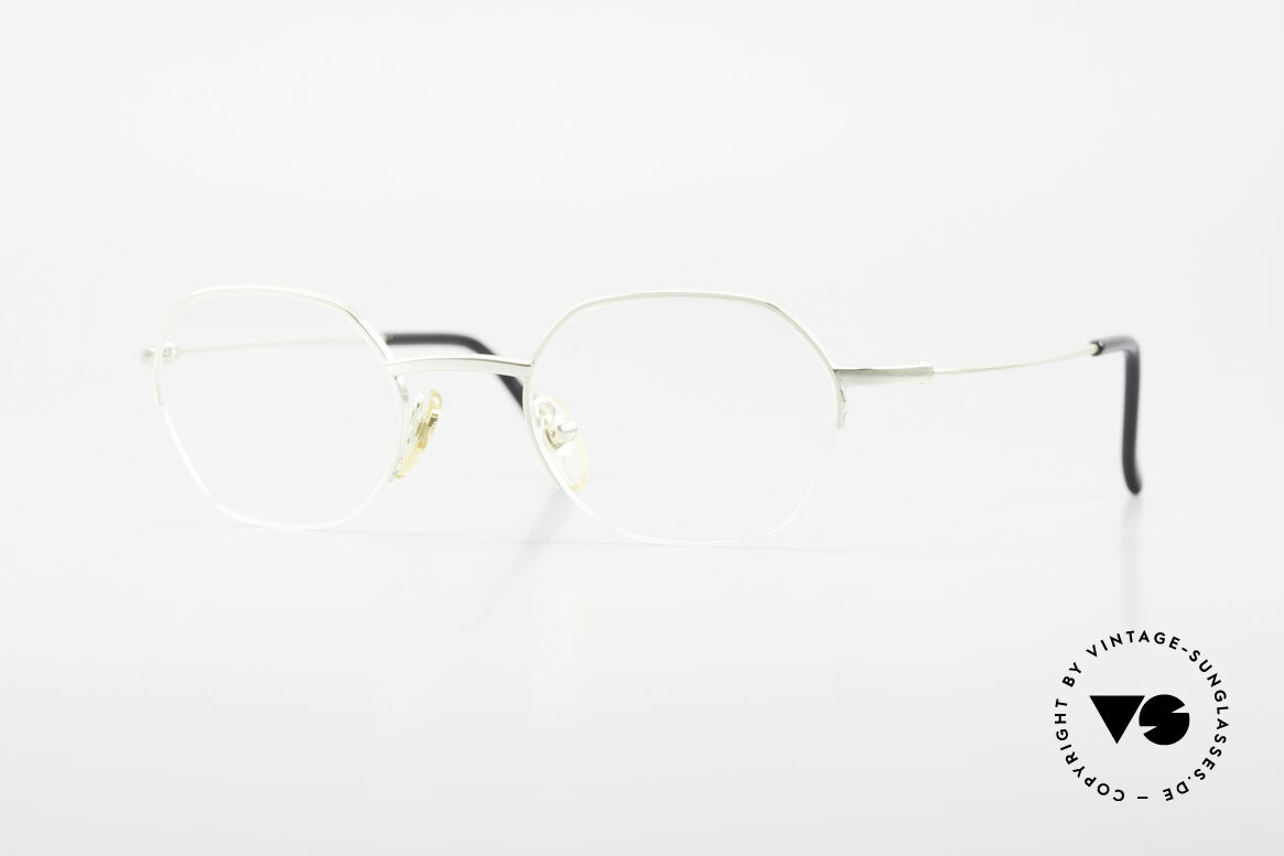 W Proksch's M62/24 90s Avantgarde Semi Rimless, Proksch's vintage Titanium eyeglasses from 1996, Made for Men and Women