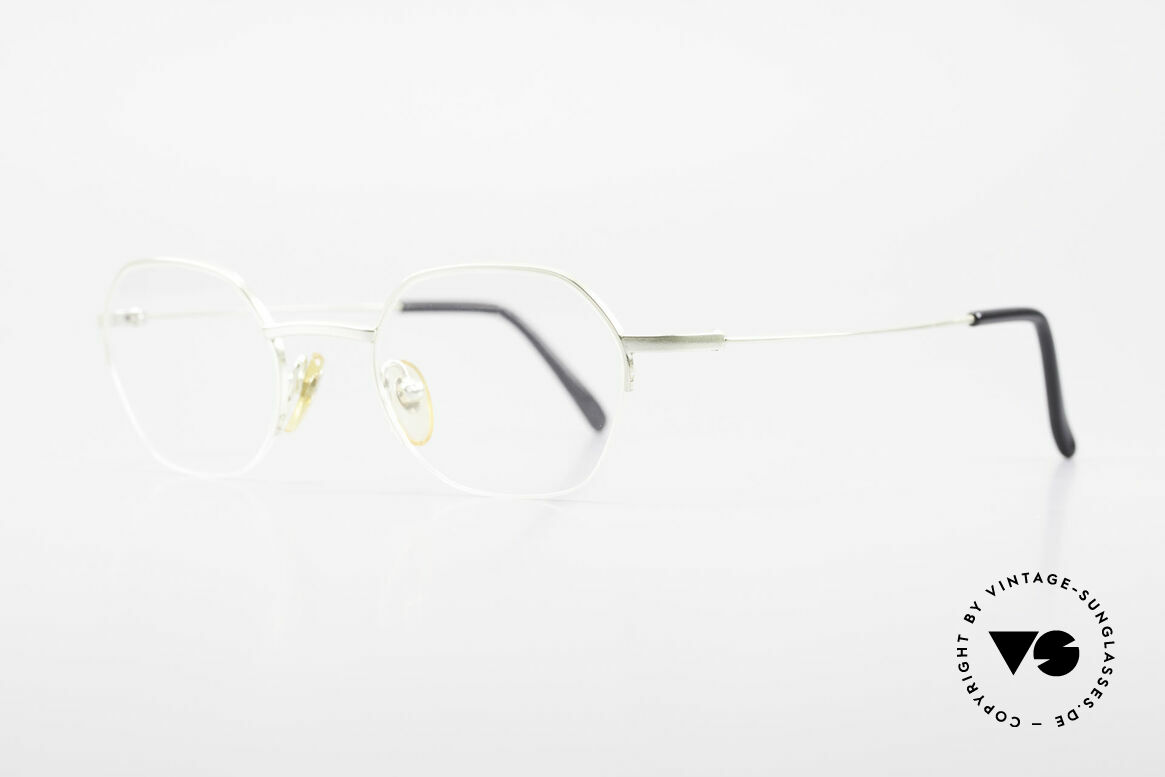 W Proksch's M62/24 90s Avantgarde Semi Rimless, plain frame design & Japanese striving for quality, Made for Men and Women