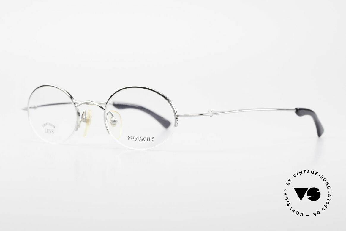 W Proksch's M35/2 Semi Rimless 90's Avantgarde, plain frame design & Japanese striving for quality, Made for Men