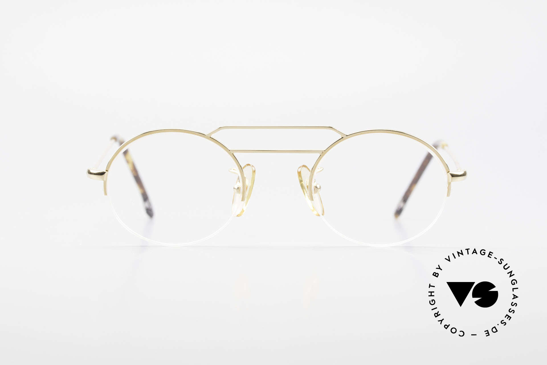 W Proksch's M5/7 90's Semi Rimless Gold-Plated, back then, produced by Wolfgang Proksch himself, Made for Men and Women