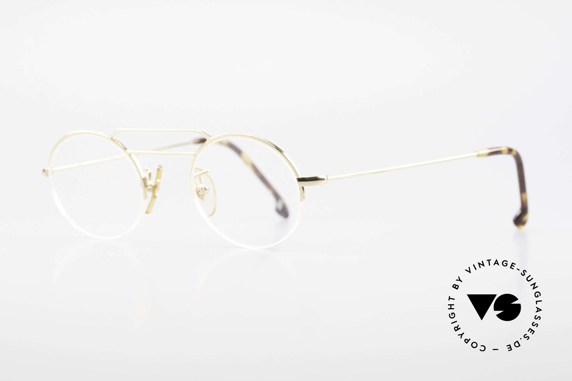 W Proksch's M5/7 90's Semi Rimless Gold-Plated, plain frame design & Japanese striving for quality, Made for Men and Women