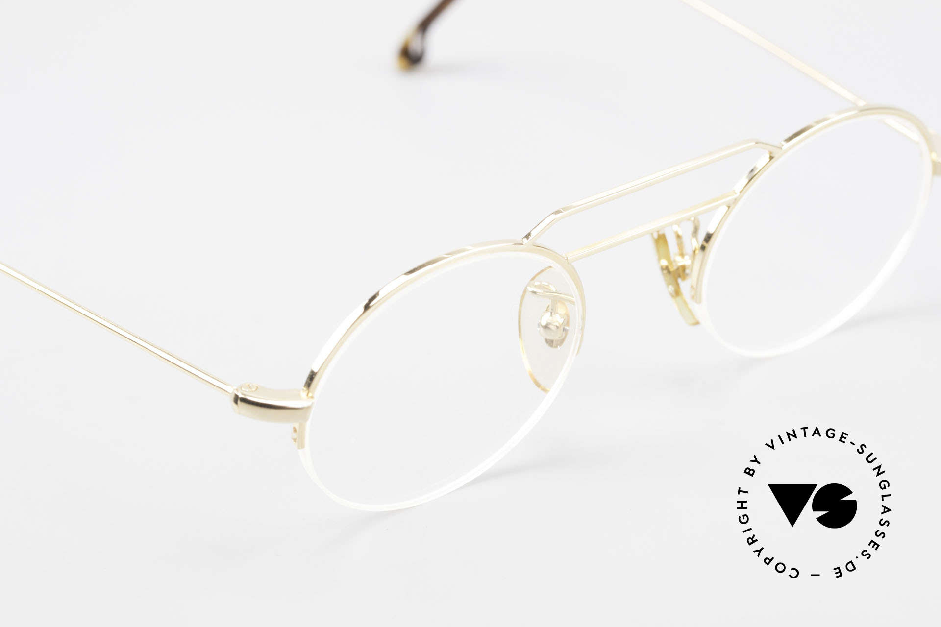 "W Proksch's M5/7 90's Semi Rimless Gold-Plated, this old WP ORIGINAL incarnates ""classy elegance"", Made for Men and Women"