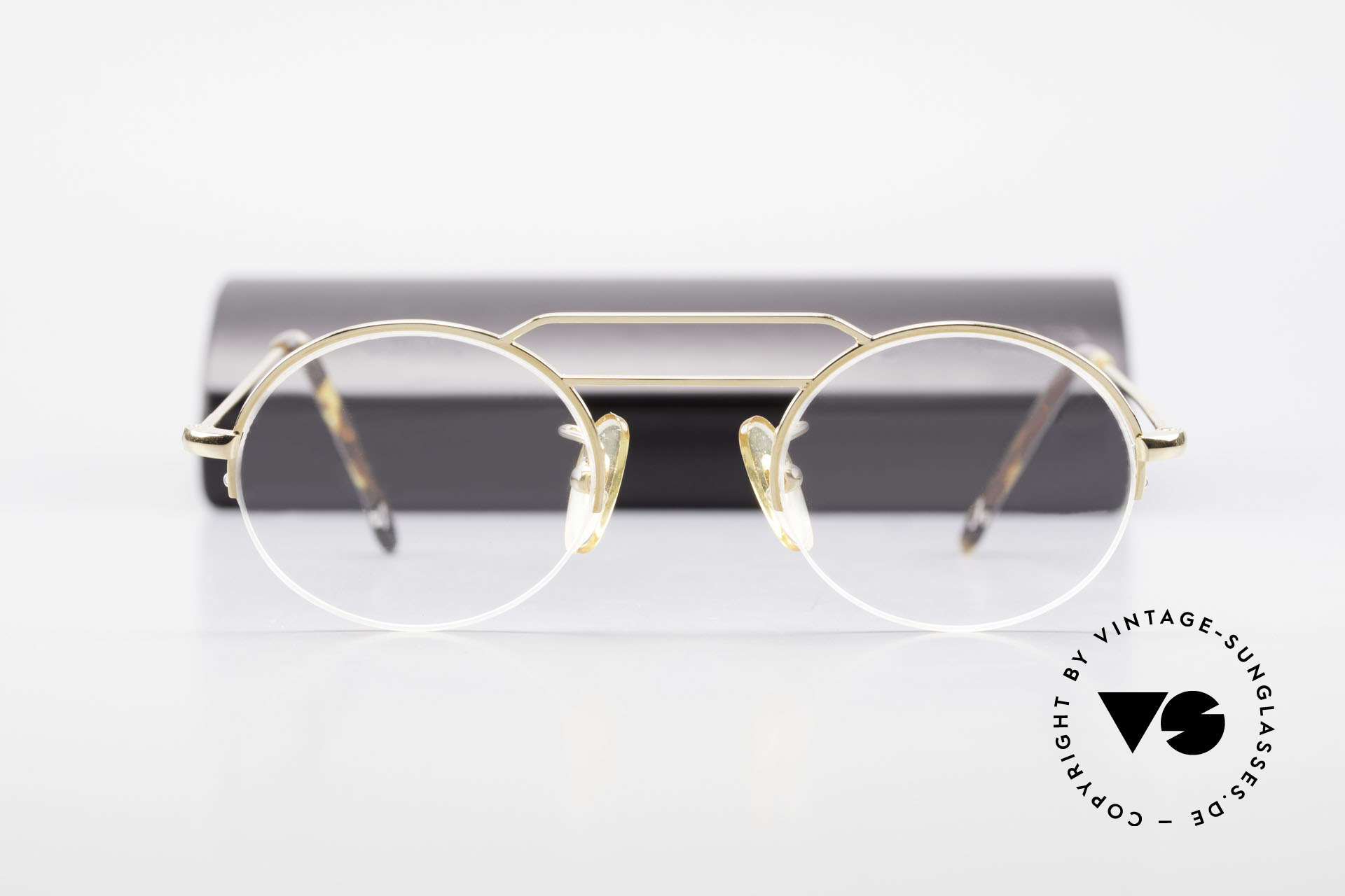 W Proksch's M5/7 90's Semi Rimless Gold-Plated, NO RETRO; but a 25 years old rarity in SMALL size, Made for Men and Women
