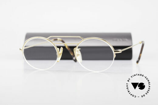 W Proksch's M5/7 90's Semi Rimless Gold-Plated, PROKSCH worked for Oliver Peoples, Paul Smith ..., Made for Men and Women