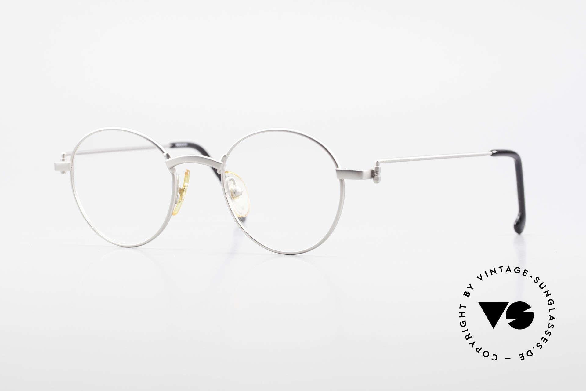 W Proksch's M32/8 Panto Glasses 90s Avantgarde, Proksch's vintage Titanium eyeglasses from 1993, Made for Men