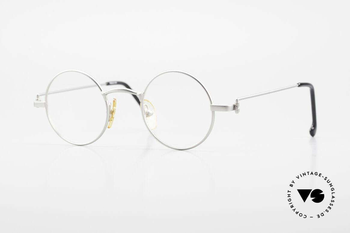 W Proksch's M30/8 Round Glasses 90s Avantgarde, Proksch's vintage Titanium eyeglasses from 1993, Made for Men