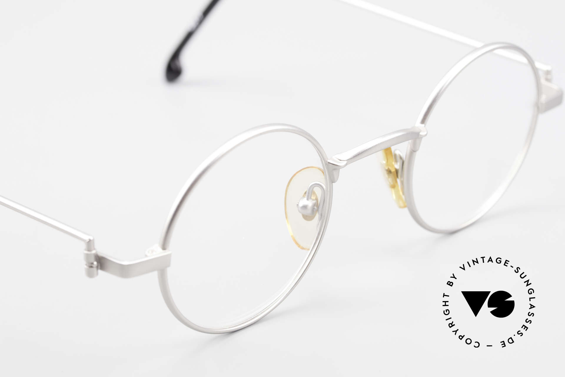 "W Proksch's M30/8 Round Glasses 90s Avantgarde, this old WP ORIGINAL incarnates ""classy elegance"", Made for Men"
