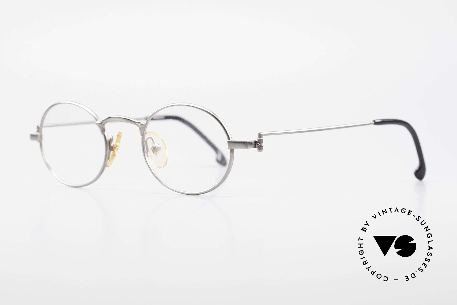 W Proksch's M31/11 Oval Glasses 90's Avantgarde, plain frame design & Japanese striving for quality, Made for Men