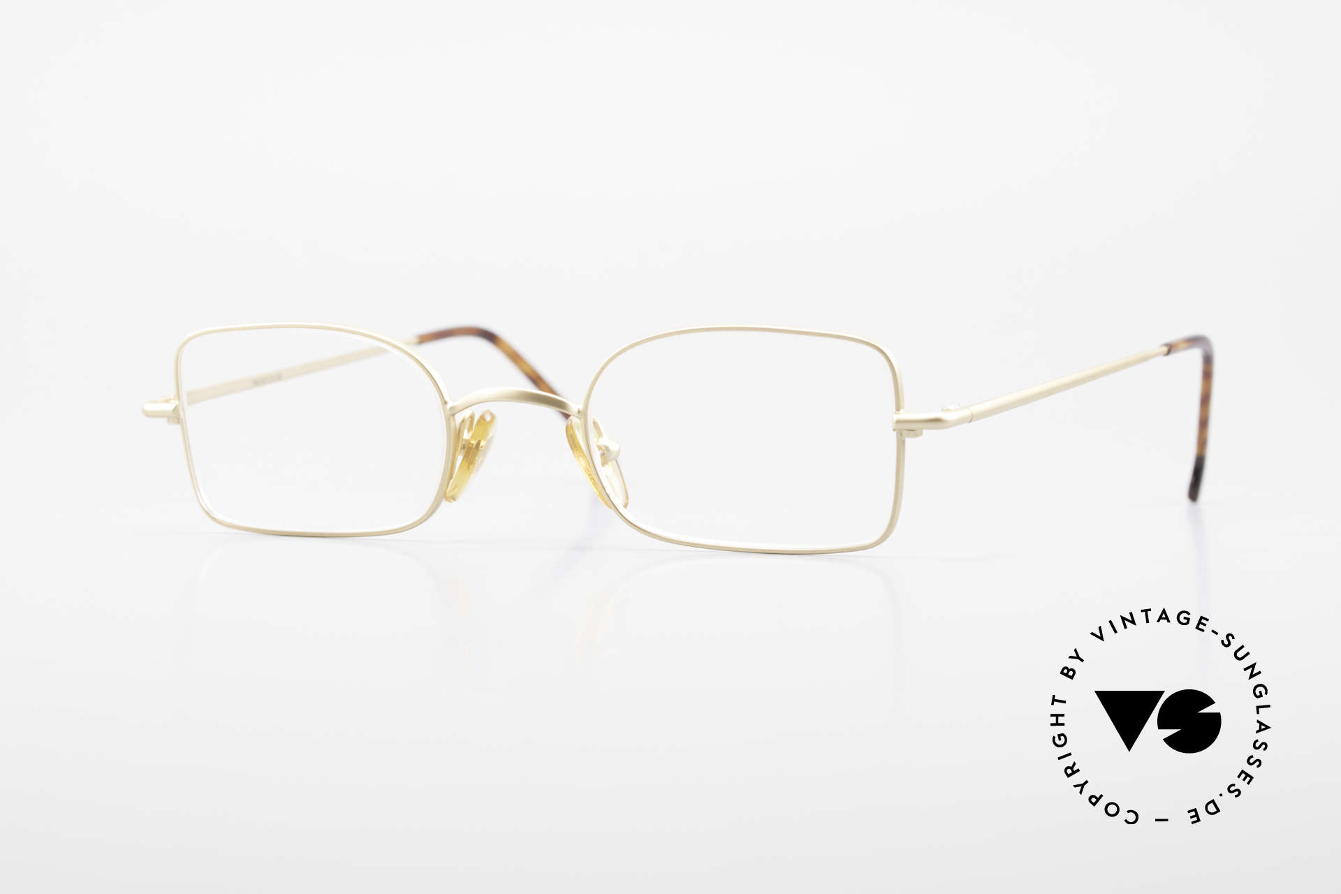 W Proksch's M19/9 Orig 90's Avantgarde Glasses, GOLD-Plated Proksch's vintage glasses from 1992, Made for Men and Women